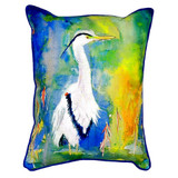 Colorful Blue Heron Pillow