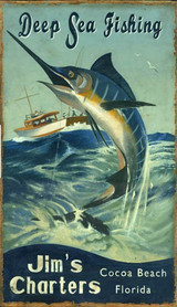 Deep Sea Fishing Sign