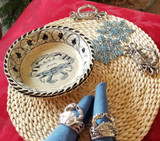 Blue Crab Bay Pasta Bowls - set of 4 with placemats and napkin rings