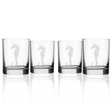 Seahorse Double Old Fashioned Glasses - Set of 4