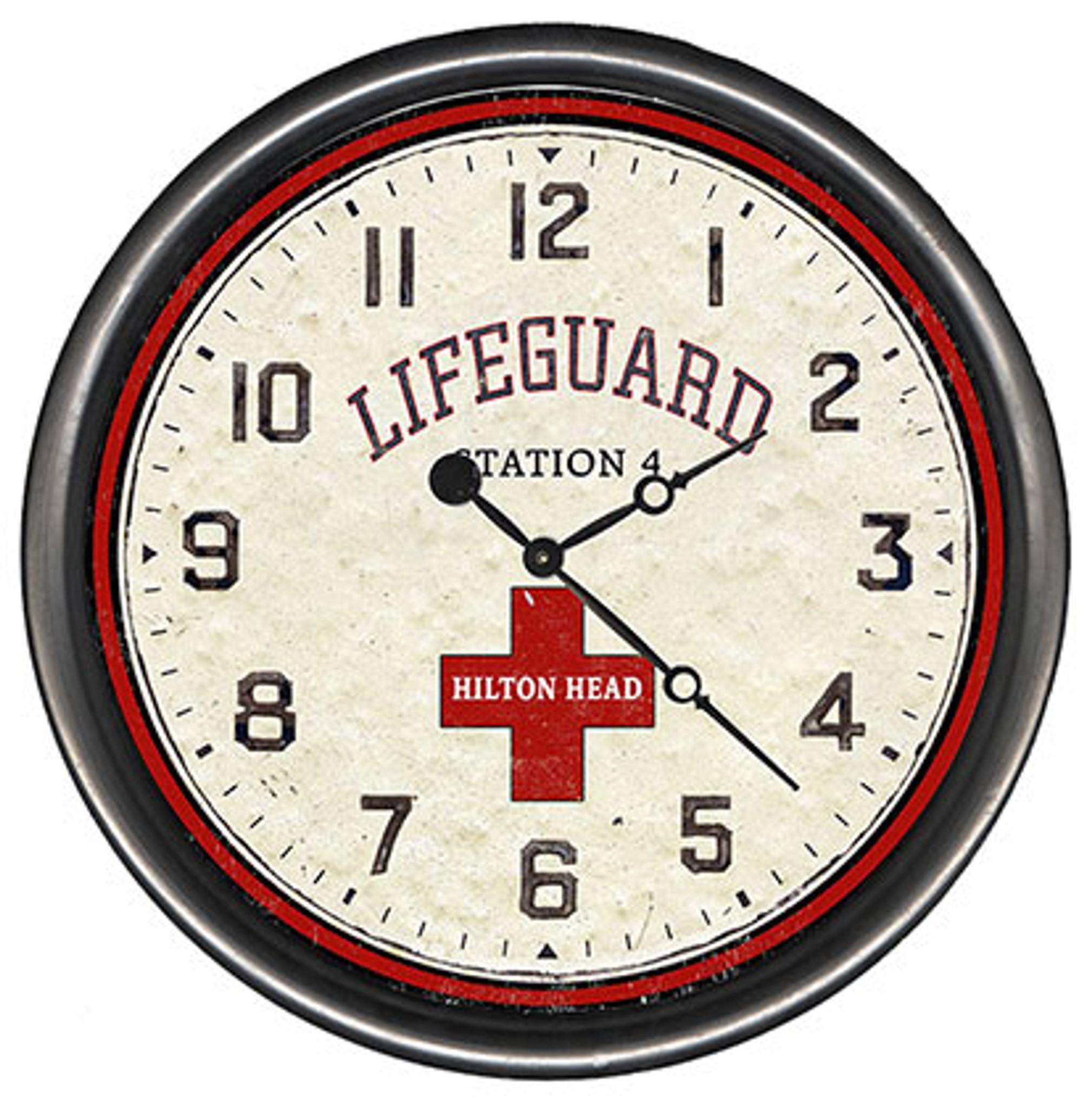 Beach Lifeguard Custom Wall Clock Caron S Beach House