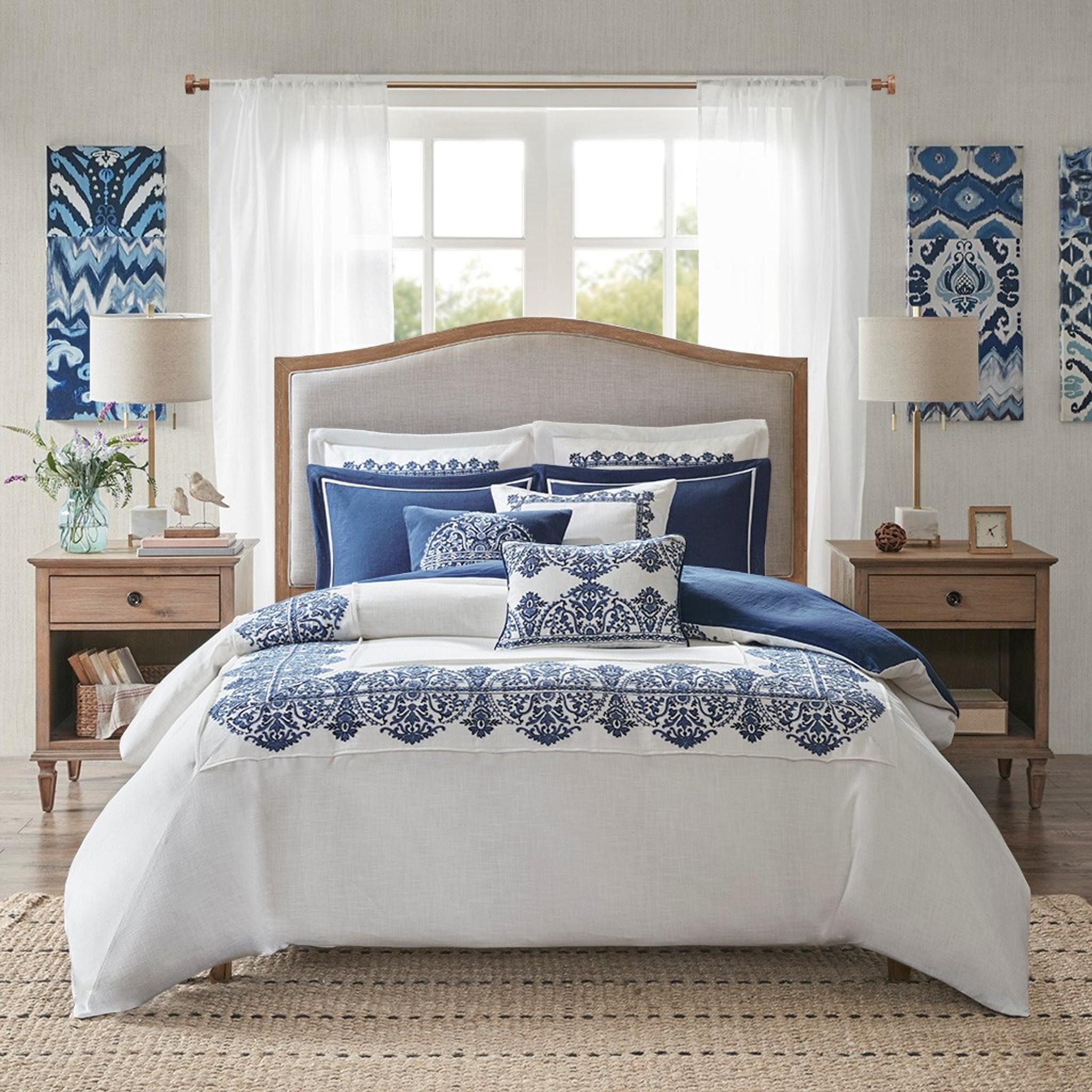 Indigo Skye Oversized Queen Size 8 Piece Comforter Set Caron S Beach House