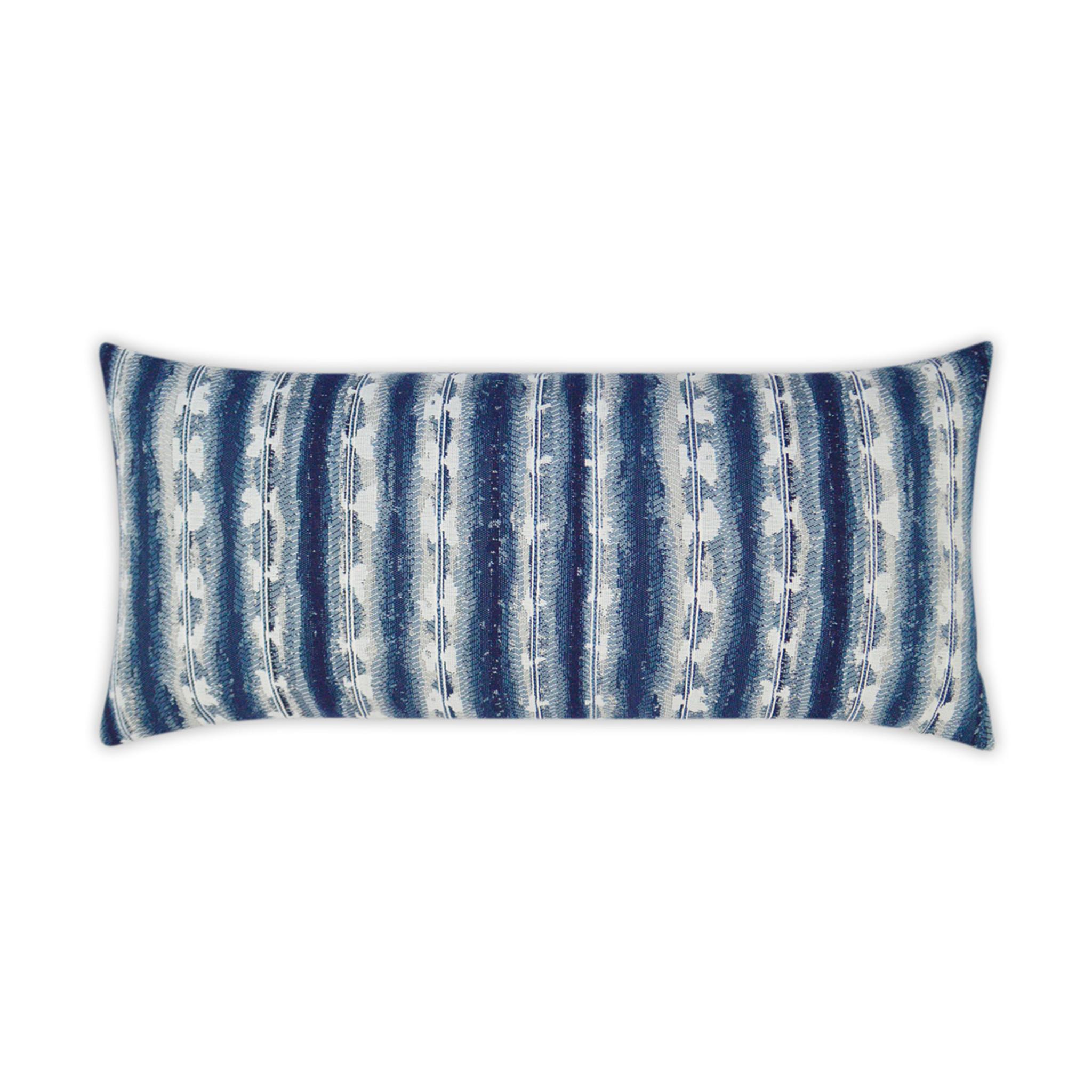 Sunshibo Navy And White Stripe 12 X 24 Lumbar Pillow Caron S Beach House