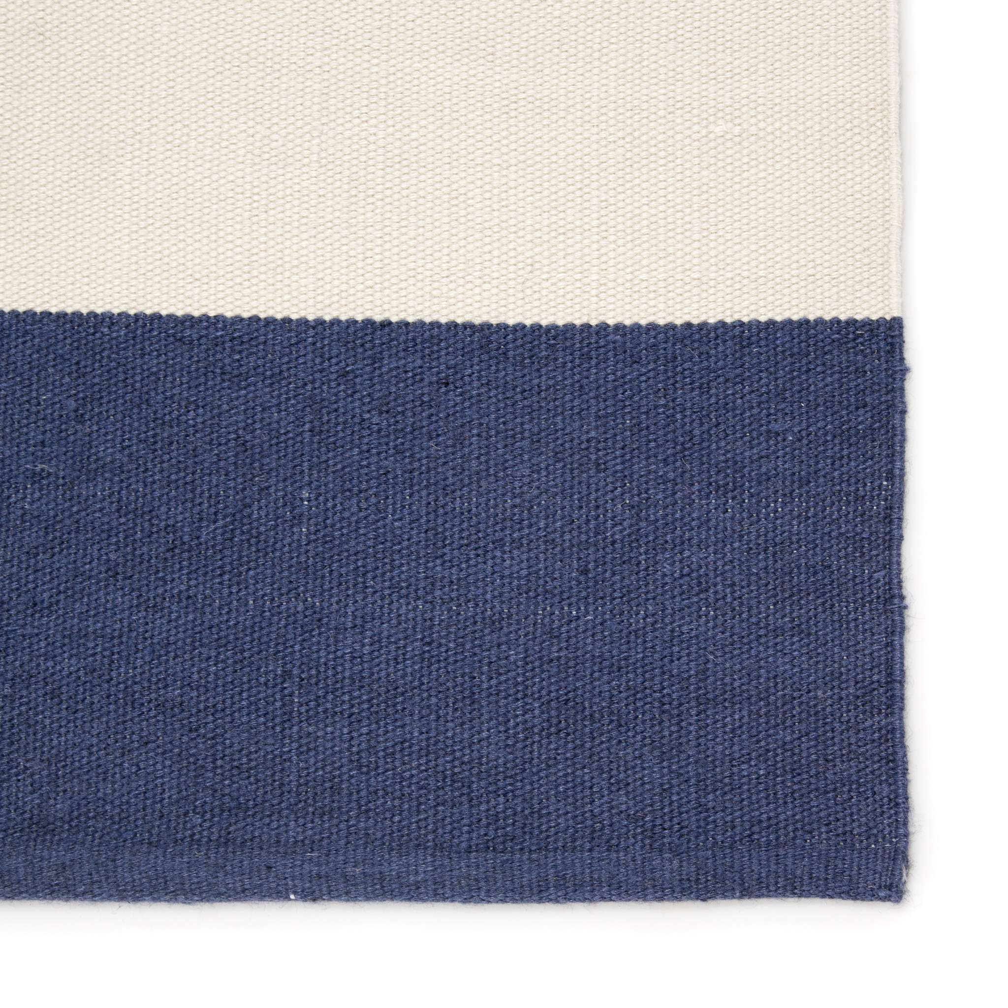 Picture of: Remora Navy Blue Striped Rug Caron S Beach House