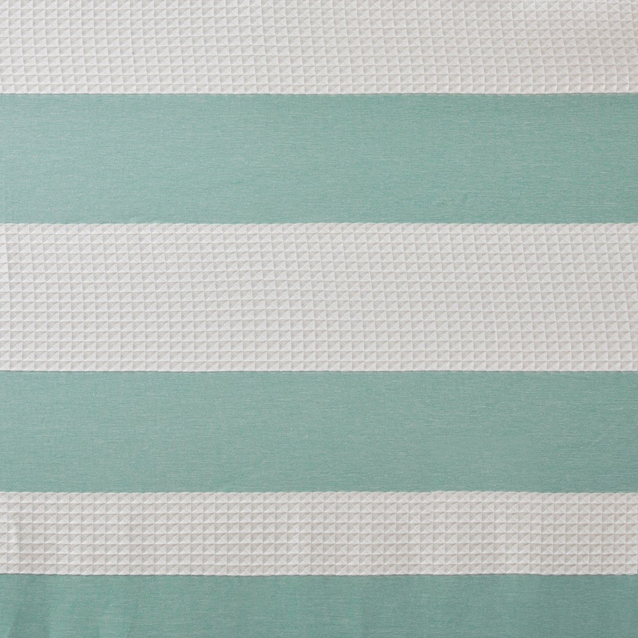 Spa Aqua 72 X 84 Striped Shower Curtain