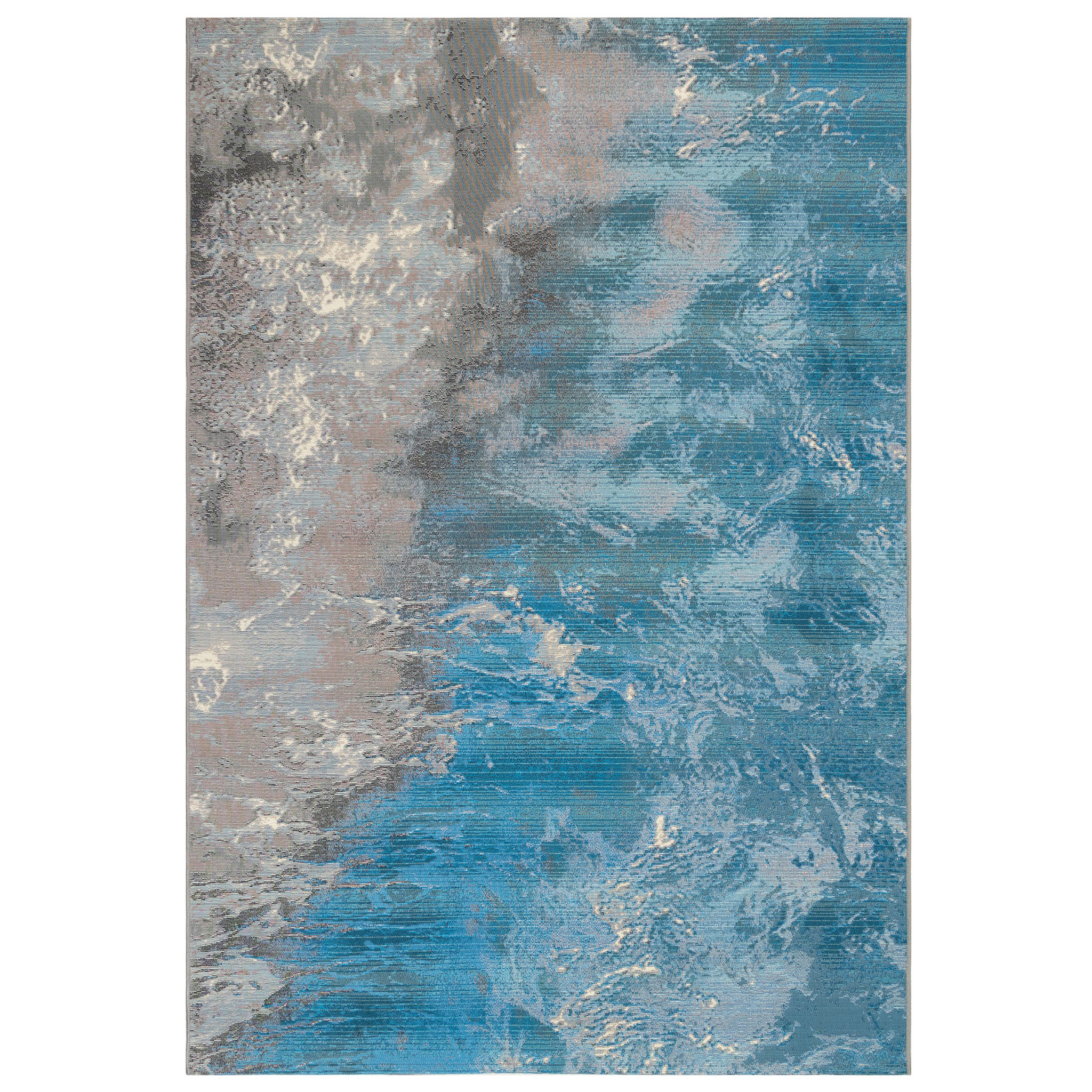 Image of: Surf Waves And Ocean Area Rug Caron S Beach House