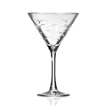 School of Fish Martini Glassware single image