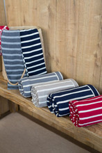 knit stripe throw collection