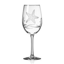 Starfish Etched Large Wine Goblets - Set of 4 single image