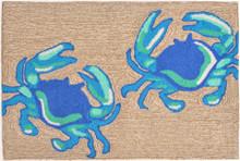 Bright Blue Crabs Area Rug