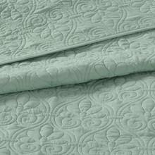 Hudson Bay Seafoam Green Queen Size Coverlet Set close up