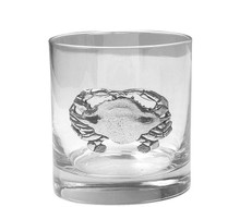 Polished Crab Double Old Fashioned Glasses - Set of 4