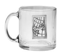 Seafarer Crab Glass Coffee Mugs - Set of 4