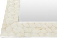 Large Capiz Shell Framed Mirror detail corner