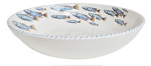Blue School of Fish Serving Bowl