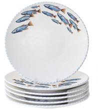 Blue School of Fish Dinner Plates - Set of 6