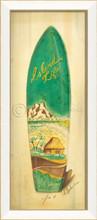 Island Life Surfboard Art - White Frame