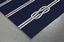 Navy Blue Ropes Area Rug