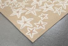 Starfish Tan and Ivory Area Rug corner close up