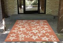 Starfish Coral Orange Rug room image