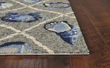 Harbor Seaside Grey Indoor-Outdoor Rug corner image
