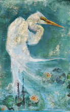Great White Egret Art by Anthony Morrow