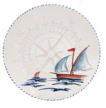 Sailboat Dinner Plates - Set of 6