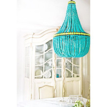Hedy Turquoise Chandelier Room image