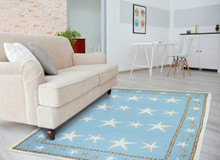 Starfish Blue Scatter Area Rug