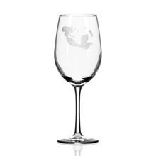 Mermaid Etched 12 oz. Wine Glasses-single image