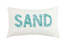 Turquoise Beaded SAND Pillow