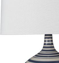 Blue Striped Tideline Lamp detail lamp base