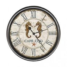 Beach Cottage Seahorse Clock - Custom