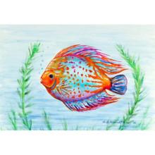 Orange Fish Floor Mat