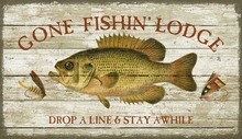 Gone Fishing Custom Wall Art