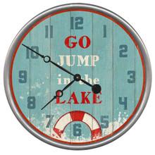 Jump in the Lake Clock - Custom