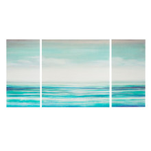 Teal Tides Gel Coat Canvas - 3 part Wall Decor