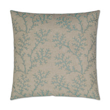 Aqua Coral Garden Luxury Pillow