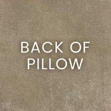 Barbados Velvet Coral Branch Pillow - Laguna back of pillow