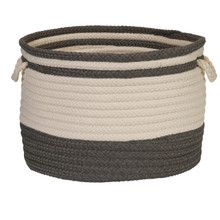 Bar Harbour Round Basket - Gray