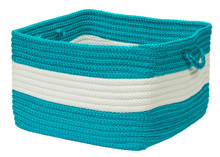 Rope Walk Turquoise Striped Basket