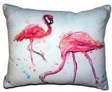 Funky Flamingos Indoor-Outdoor Pillow