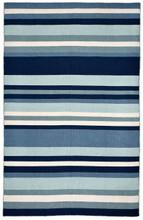 Tribeca Water Blue Striped Woven Indoor-Outdoor Rug
