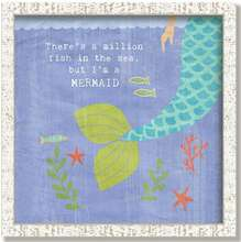 Whimsical Mermaid Tail Framed Art