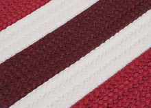 Portico Chili Red Stripes Rug