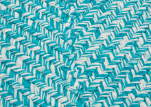 Catalina Aquatic Braided Rug close up