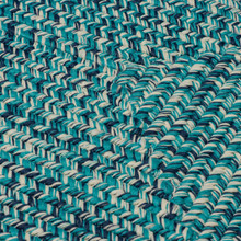 Catalina Turquoise Blue Lagoon Braided Rug