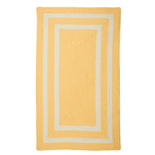 Sun Yellow La Playa Braided Area Rug