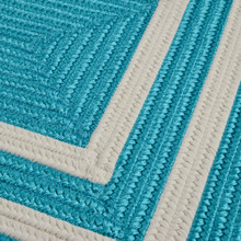 Deep Aqua La Playa Area Rug