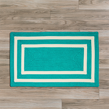 Deep Aqua La Playa Area Rug floor image